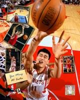 Yao Ming - 2005 Scrapbook Fine Art Print