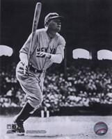 Babe Ruth - Batting Action At The Stadium Fine Art Print