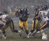 Jerome Bettis - '05 / '06 Action ( In The Snow) Fine Art Print