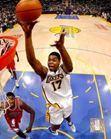 """Andrew Bynum - '05 / '06 Action by Angela Ferrante - 8"""" x 10"""""""