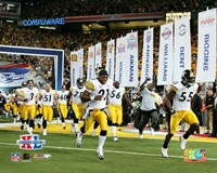 "Super Bowl  XL - '05 Steelers Introduction #1 by Angela Ferrante - 10"" x 8"""