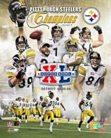 "Super Bowl XL - '05 Steelers Champions Composite #2 by Angela Ferrante - 8"" x 10"""