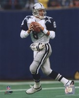 Troy Aikman - Dropping Back Framed Print