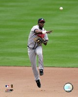 Edgar Renteria -  2006 Fielding Action Framed Print