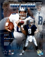 Troy Aikman - HOF Legends #2 Fine Art Print