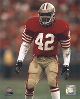 Ronnie Lott - Action Framed Print