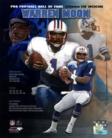 Warren Moon - 2006 Hall Of Fame Legends Composite Fine Art Print