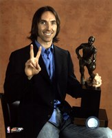 Steve Nash - 2006  NBA M.V.P. / With Trophy Fine Art Print