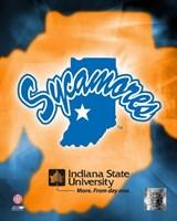 Indiana State University Logo Fine Art Print