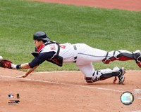 Victor Martinez - 2006 Catching  Action Fine Art Print