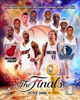 NBA - 2006 Finals Match-Up Heat Vs. Mavericks Fine Art Print