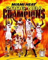 2006 - Heat NBA Champions Composite Framed Print