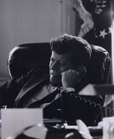 President John F. Kennedy in the Oval Office (#7) Fine Art Print
