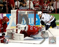 Cam Ward - 2006 Stanley Cup / Game 7 Game Winning Save (#33) Fine Art Print