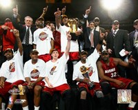2006 - Heat NBA Champions Team Celebration (#35) Fine Art Print