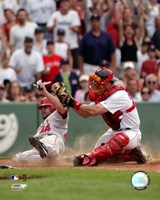 Jason Varitek - 2006 Play At The Plate Fine Art Print