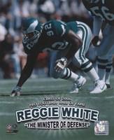 Reggie White - Minister of Defense / '06 H.O.F. Fine Art Print