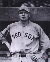 Babe Ruth - Close Up (Red Sox) Framed Print