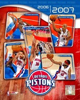 '06 / '07 Pistons Team Composite Fine Art Print