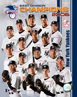 "2006 - Yankees East Division Champs Team Composite by Angela Ferrante, 2006 - 8"" x 10"""