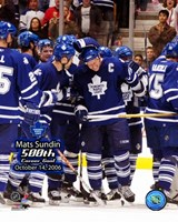 Mats Sundin - 10/14/06  500th Goal Ceremony Fine Art Print