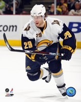 """Jason Pominville - '06 / '07 Away Action by Angela Ferrante - 8"""" x 10"""""""
