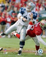 Troy Aikman - Football Action Fine Art Print