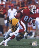 Jerry Rice - Action Framed Print