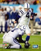 Adam Vinatieri Super Bowl XLI Action (#6) Fine Art Print