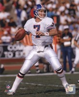 John Elway - 1988 Action Framed Print
