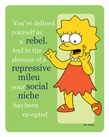 Simpsons - Lisa Rebel (postercard) Wall Poster