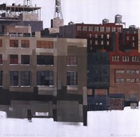 "Lower Manhattan IV by Maurice Tan - 20"" x 20"""