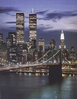 Wtc With Brooklyn Bridge Fine Art Print