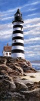 Lighthouse On Rocks Fine Art Print