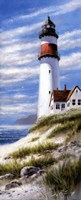 "Lighthouse On Cliff by T.C. Chiu - 8"" x 20"""