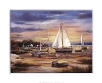 "Sailboats At The Shore by T.C. Chiu - 20"" x 16"" - $11.49"