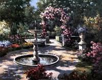 Garden Fountain Fine Art Print