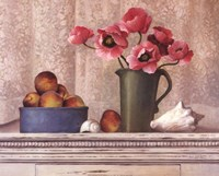 Poppies, Peaches And Shells Fine Art Print