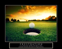 Frustration - Golf Ball Framed Print