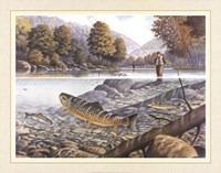Jumping Trout Fine Art Print