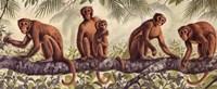 "Monkey Time II by Ron Jenkins - 20"" x 8"", FulcrumGallery.com brand"