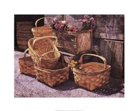 Stacked Baskets Fine Art Print