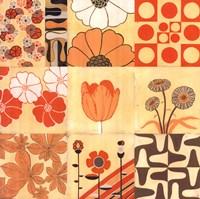 Orange Floral Montage Fine Art Print