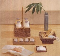 Soaps Combs In Baskets Fine Art Print