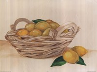 Basket Of Lemons Fine Art Print