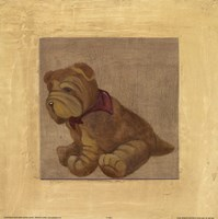 Brown Dog With Red Scar Framed Print