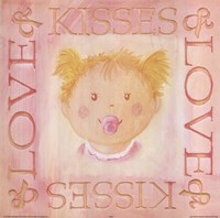 Loves Kisses - Girl Fine Art Print