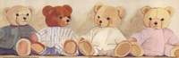 Four Bears sitting Fine Art Print