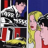 Men, Woman, Volkswagon Bug Fine Art Print