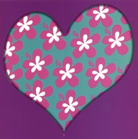 Pink Flowered Heart Fine Art Print